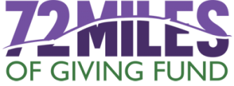 The 72 Miles of Giving Fund Logo